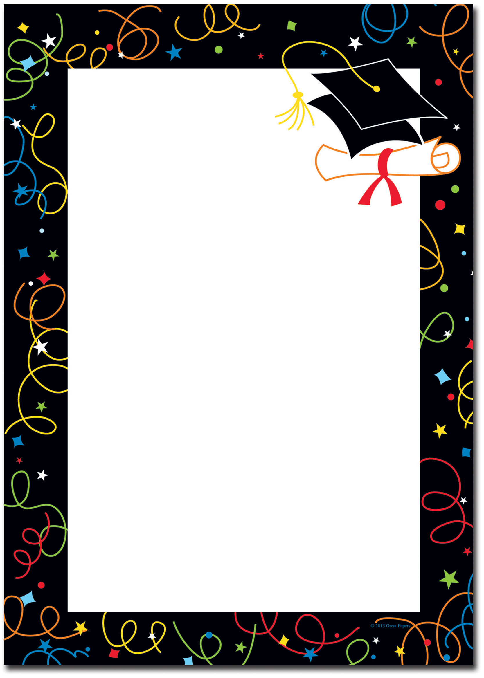 Graduation Border Templates Free Printable Paper - 7.19.hus - Free Printable Graduation Paper