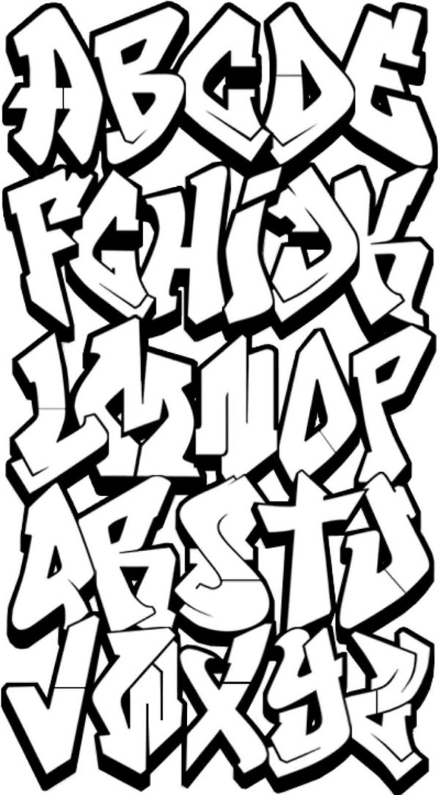 Graffiti Letters Az Alphabet Draw Step 3D Styles Free Letter - Free Printable Graffiti Letters Az