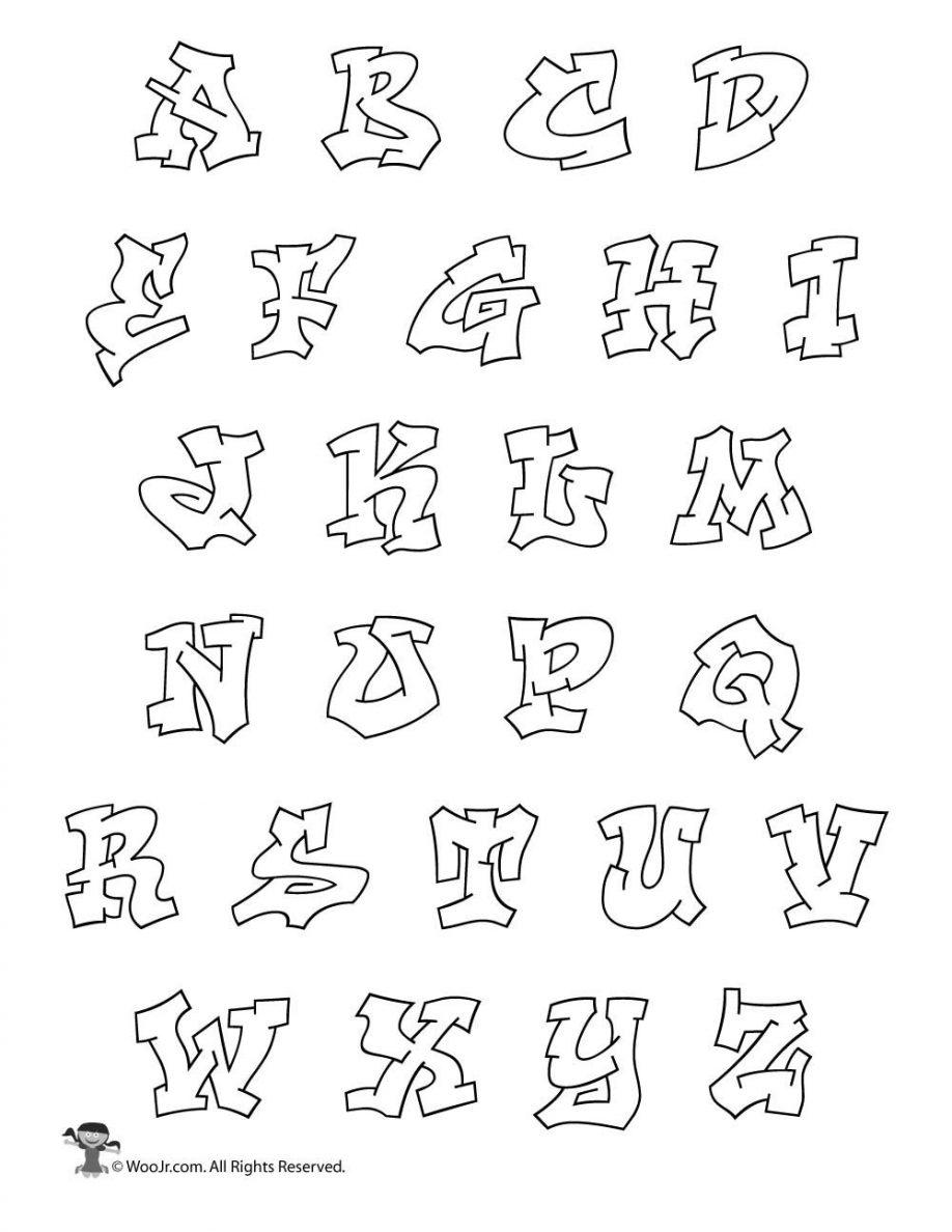 Graffiti Letters Az Alphabet Free Printable Design Letter Examples - Free Printable Graffiti Letters Az