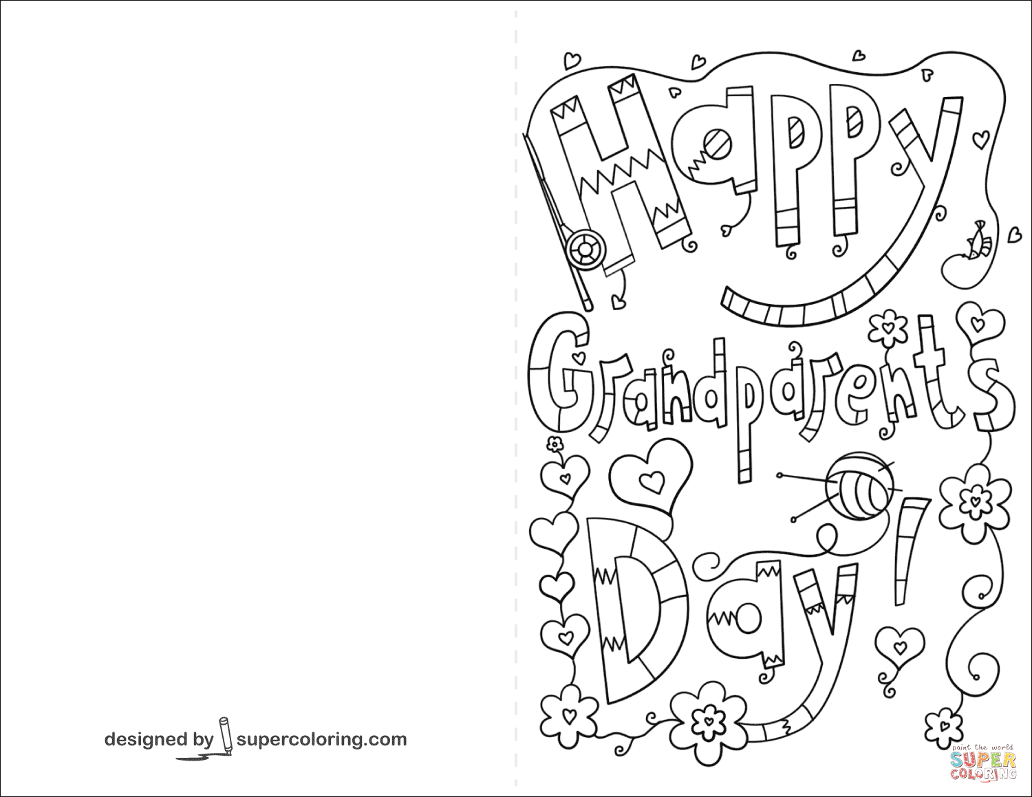 Grandparent's Day Coloring Pages   Free Coloring Pages - Grandparents Day Cards Printable Free