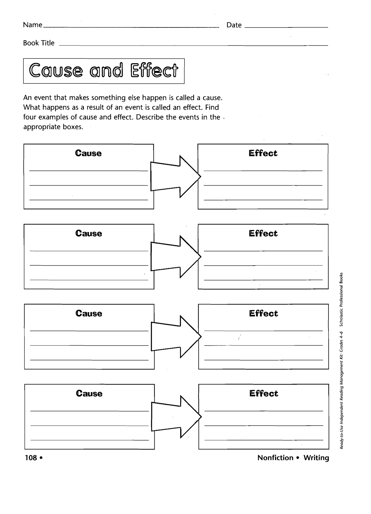 Graphic Organizers Printable | Printable Cause Effect Graphic - Free Printable Graphic Organizers