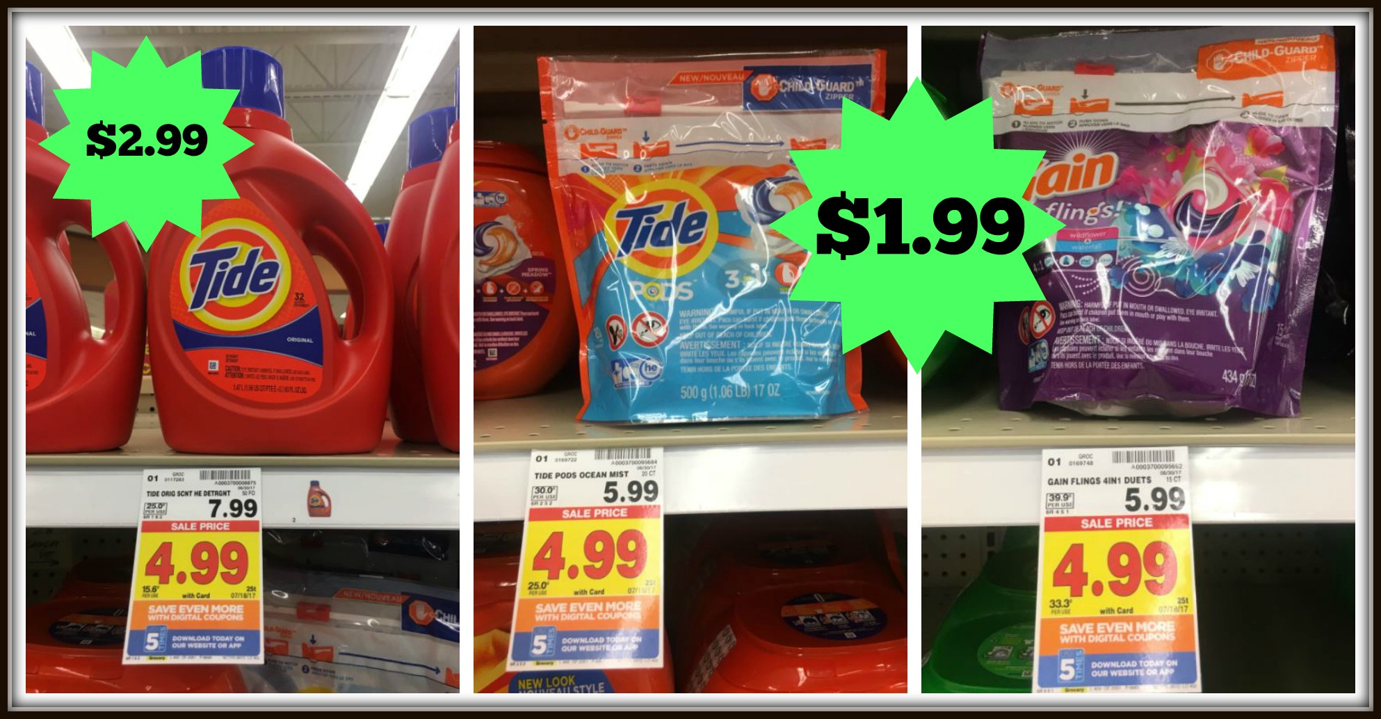 Great Tide Deals At Kroger (Pods/flings For $1.99 And Liquid For - Tide Coupons Free Printable