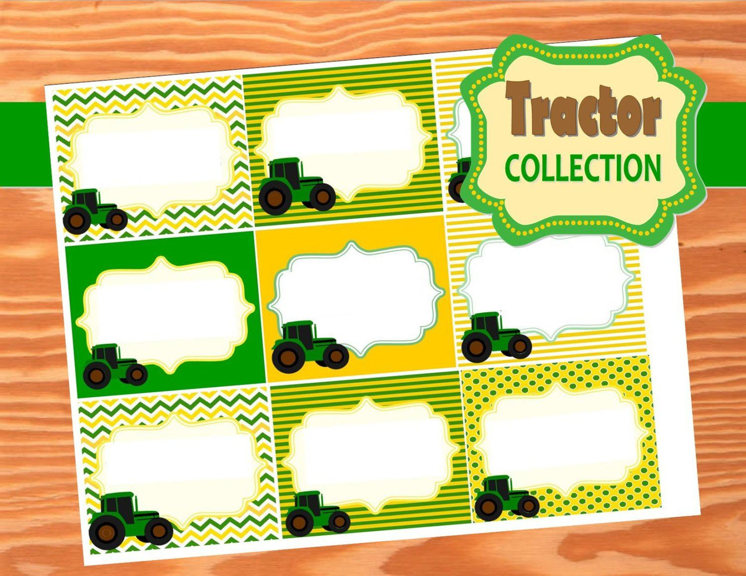Green Tractor Party- Farm Party- Tractor Party- Food Labels In 2019 - Free Printable John Deere Food Labels