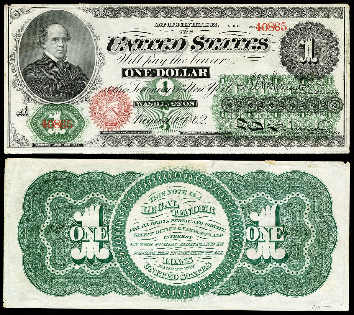 Greenback (1860S Money) - Wikipedia - Free Printable Us Currency