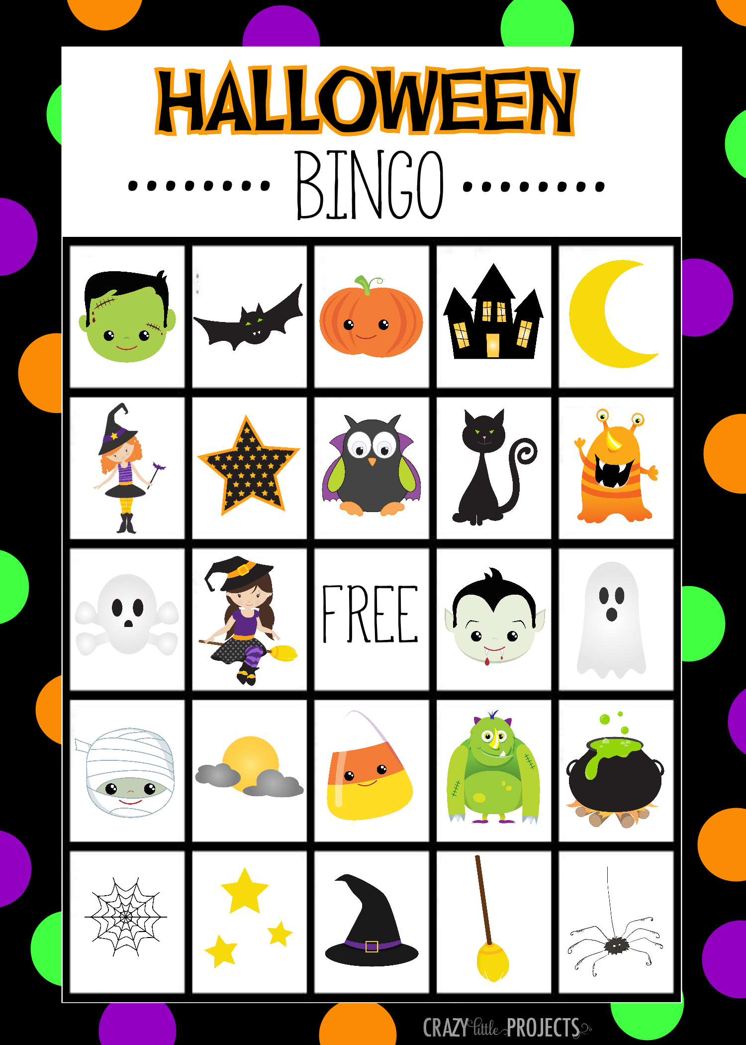 Halloween Bingo - Cute Free Printable Game | Halloween | Pinterest - Free Printable Halloween Bingo