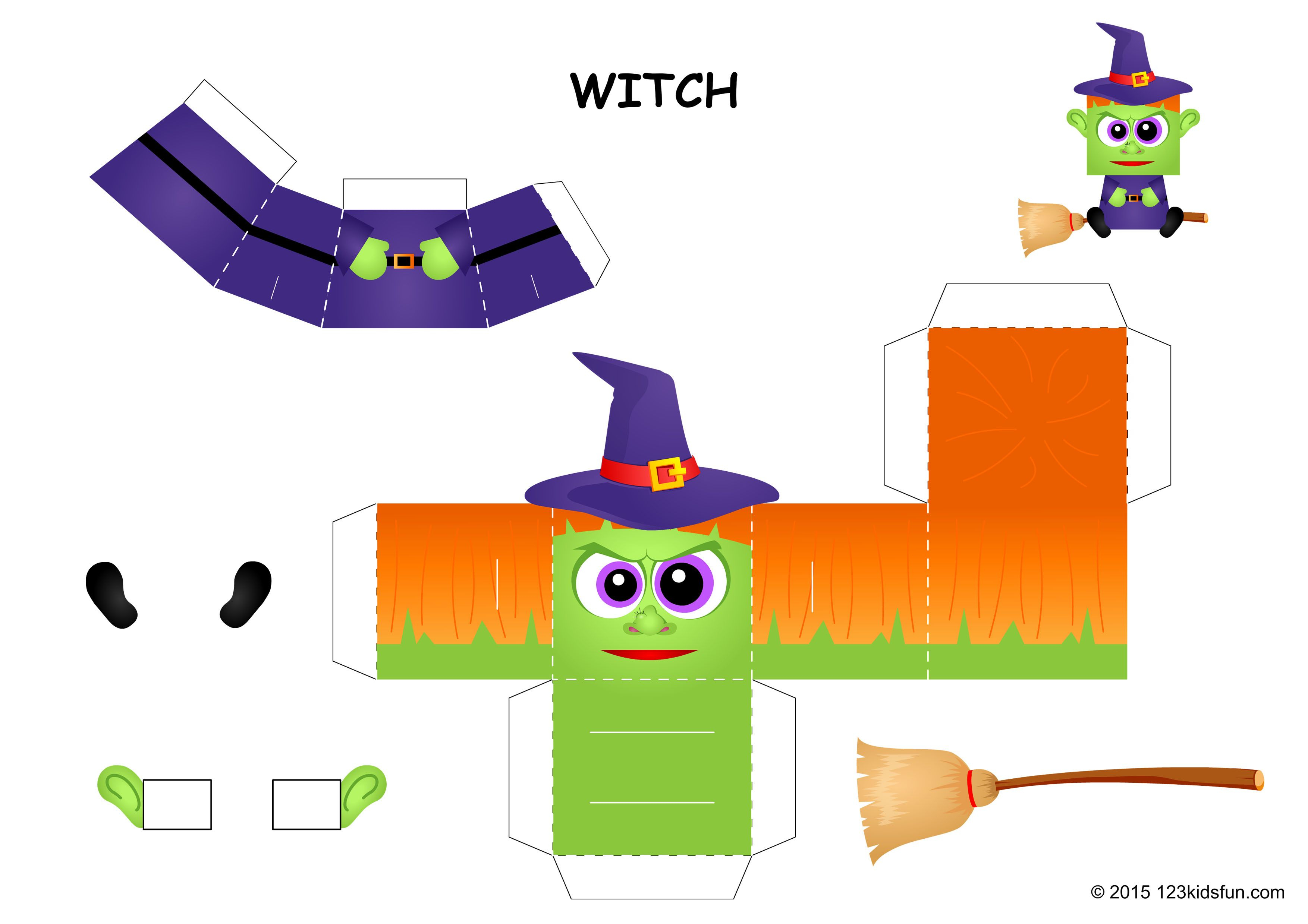 Halloween | Free Halloween Printables And Halloween Decorations - Free Printable Halloween Paper Crafts