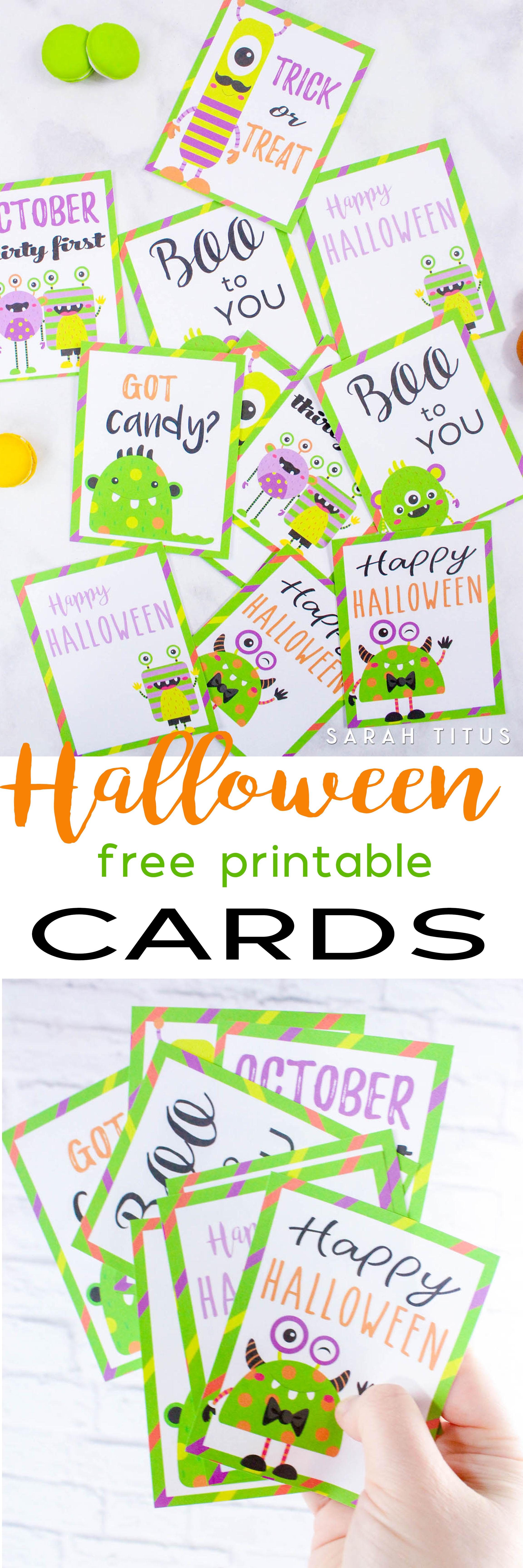 Halloween Free Printable Cards - Sarah Titus - Free Printable Halloween Cards
