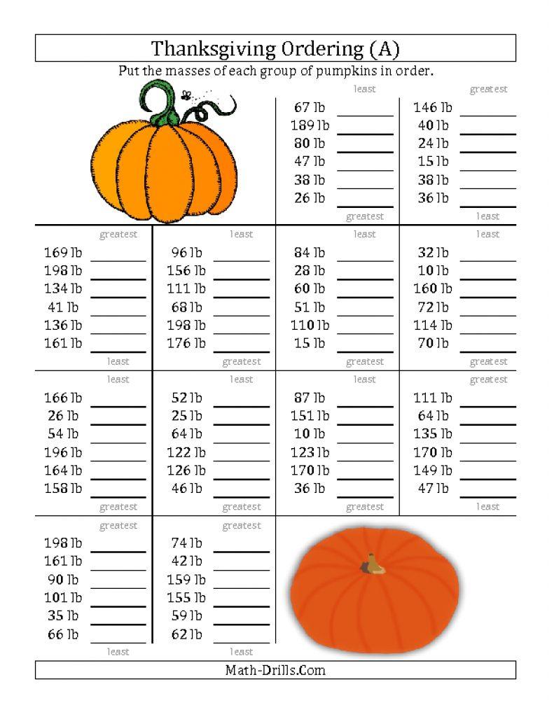 Halloween Math Worksheets Middle School Fresh Luxury Fun Fraction - Free Printable Thanksgiving Worksheets For Middle School