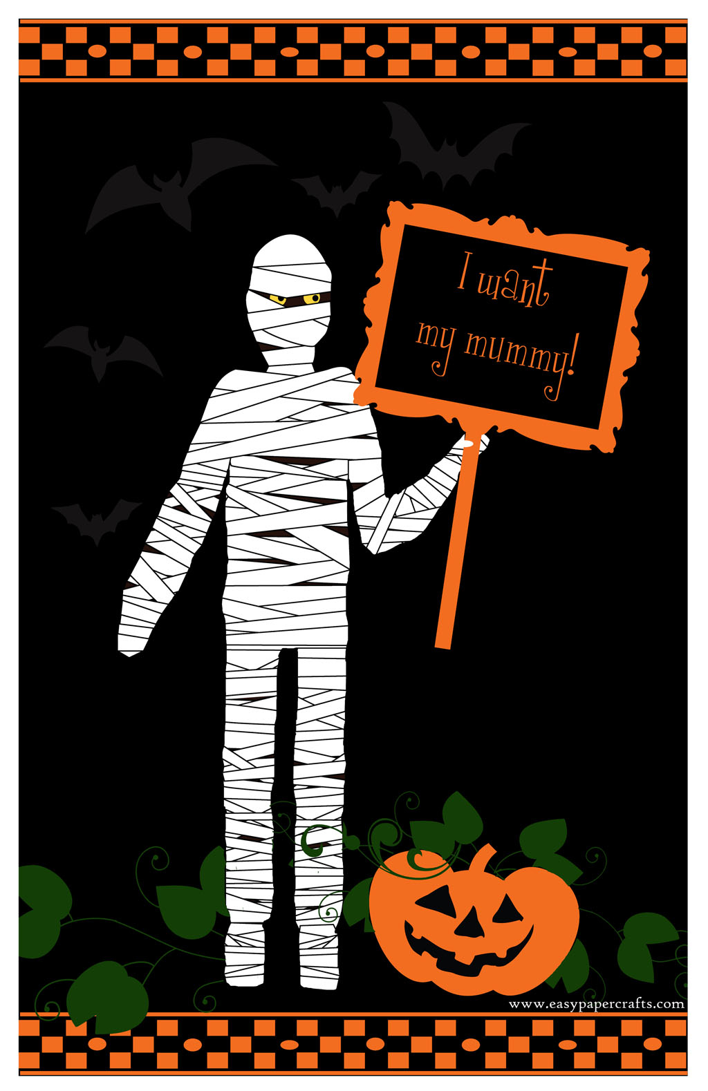 Halloween Mummy Printable - Free Printable Halloween Paper Crafts