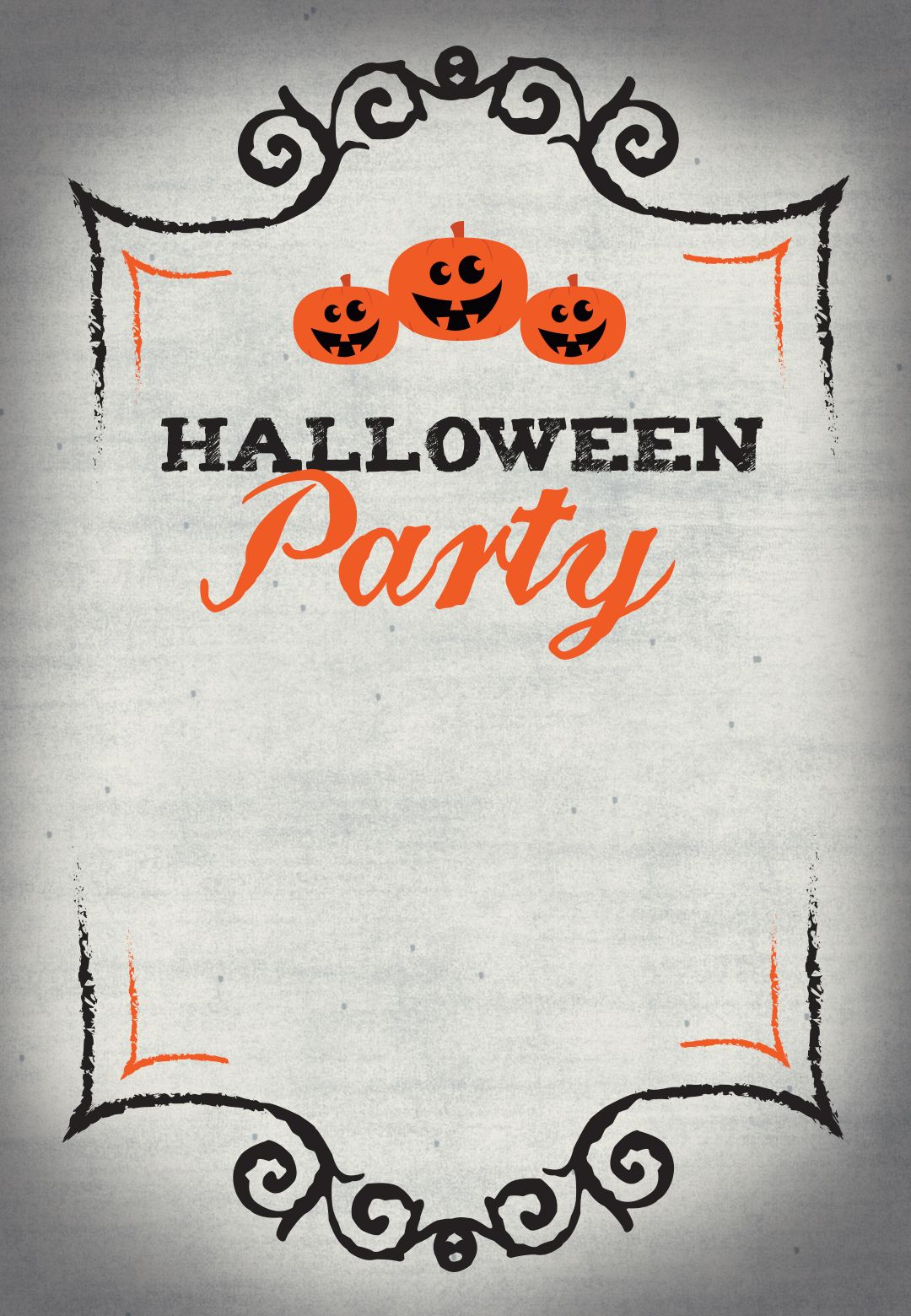 Halloween Party - Free Printable Halloween Invitation Template - Free Printable Halloween Invitations