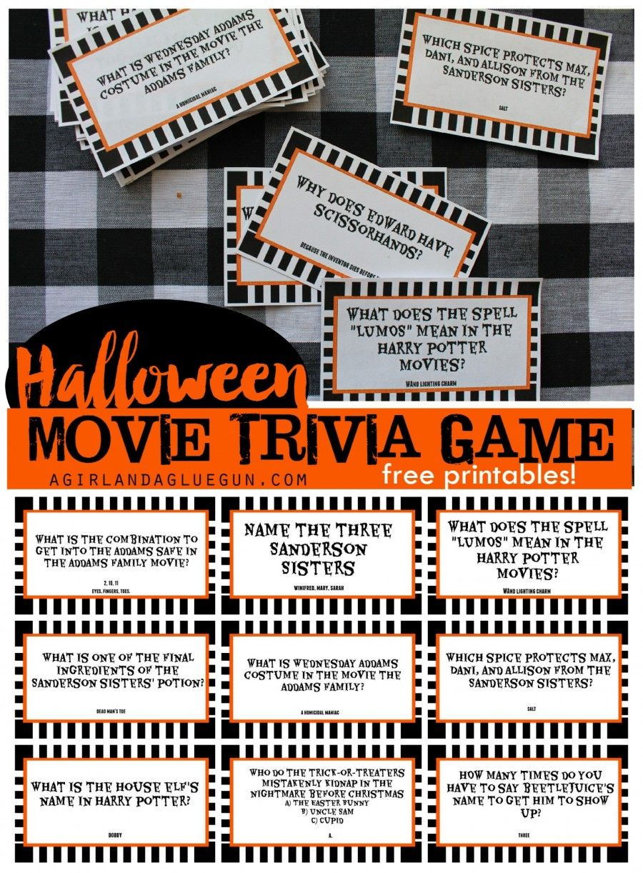 Halloween Trivia Game With Free Printables-Kids Version And Adult - Halloween Trivia Questions And Answers Free Printable