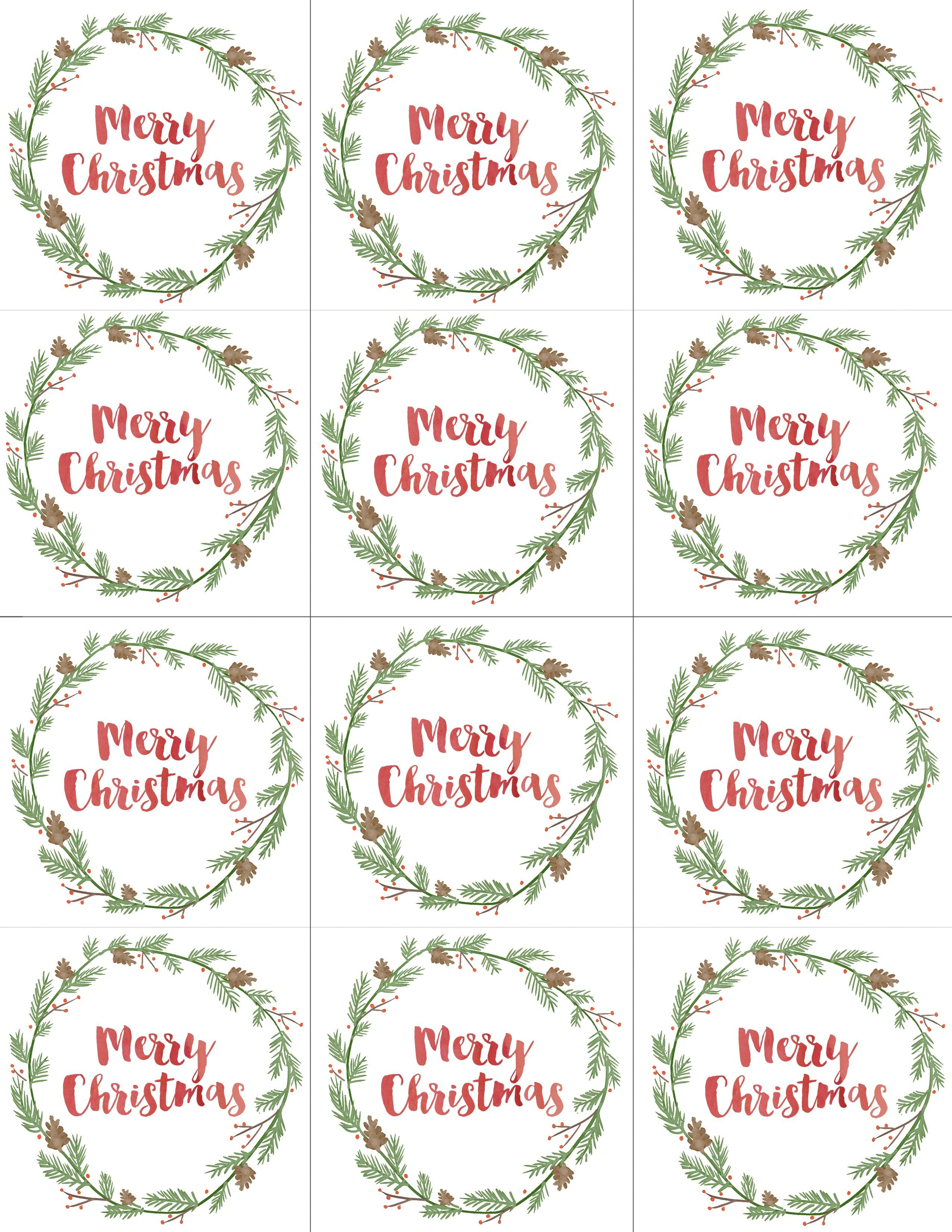 Hand Painted Gift Tags Free Printable | Christmas | Christmas Gift - Free Printable Holiday Labels