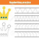 Handwriting Practice Sheet. Educational Children Game, Printable – Free Printable Worksheets Handwriting Practice