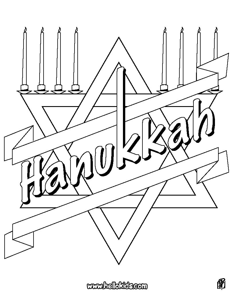 Hanukkah Coloring Pages - Coloring Pages - Printable Coloring Pages - Star Of David Template Free Printable