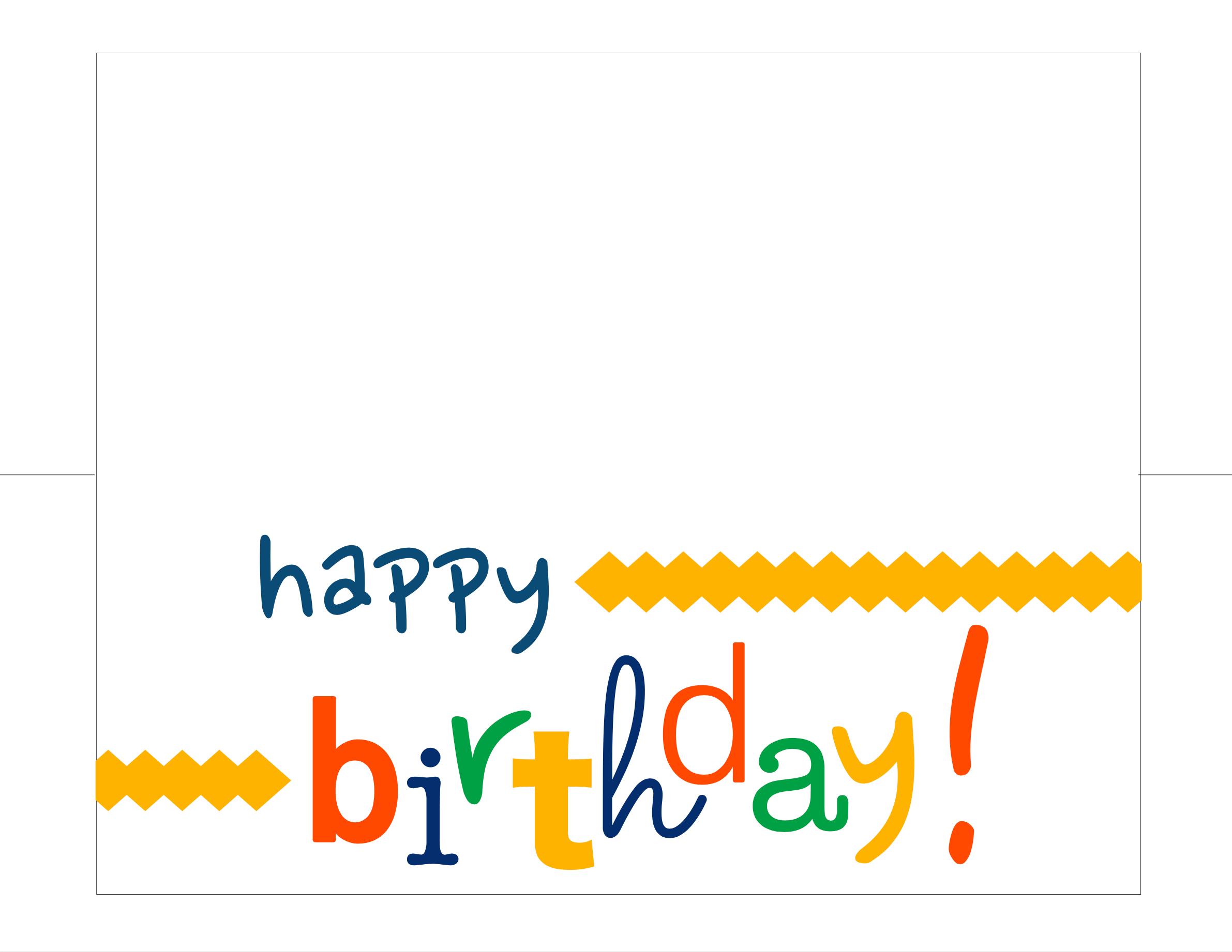 Happy Birthday Card Free Printable - - Free Printable Cards