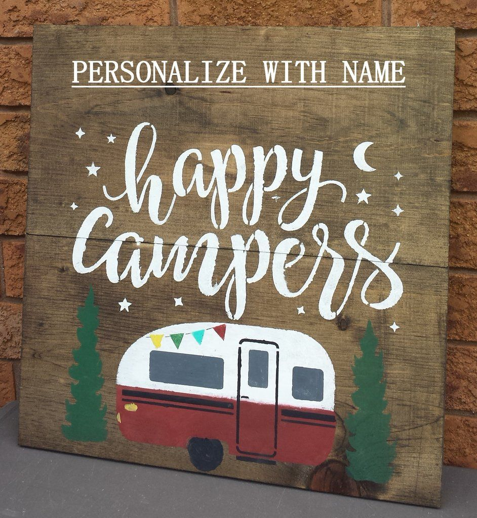 Happy Campers Sign | Craft Fair | Camping Signs, Camper Signs - Free Printable Camping Signs