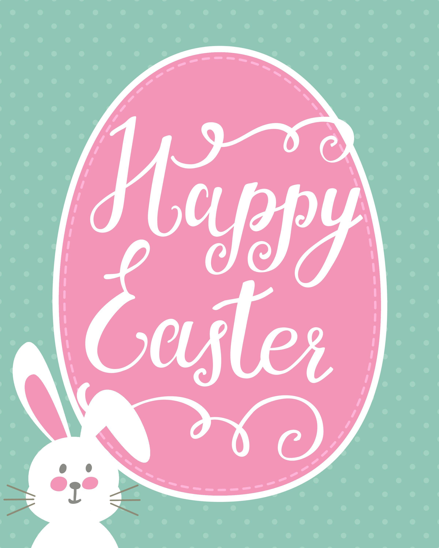 Happy Easter Bunny Printable + Easter Printable Blog Hop   Holidays - Free Printable Easter Images
