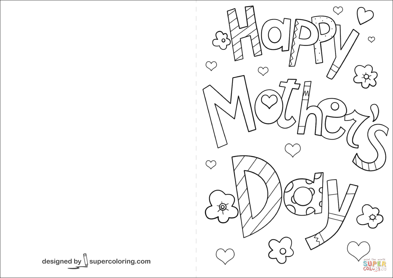 Happy Mother's Day Card Coloring Page | Free Printable Coloring Pages - Free Printable Mothers Day Coloring Cards