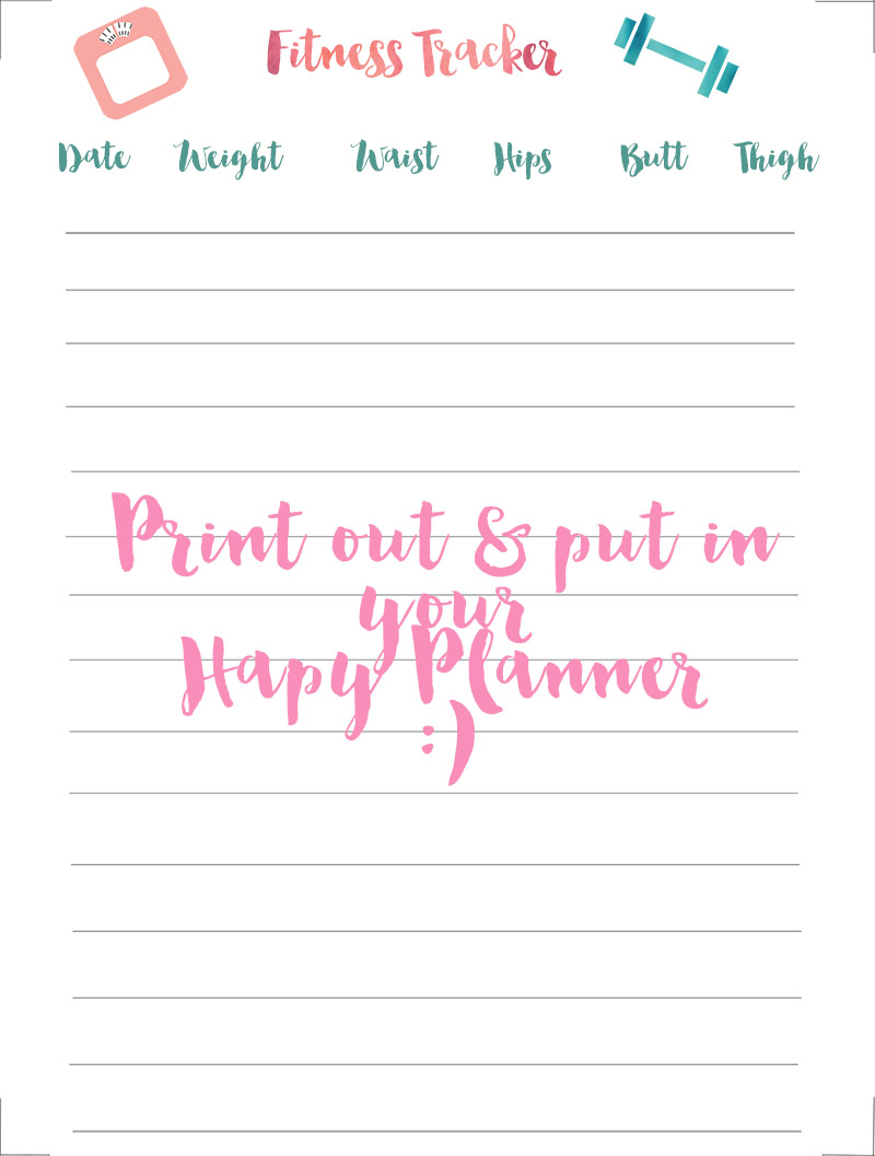 Happy Planner Fitness Tracker Free Printable - Free Printable Fitness Planner