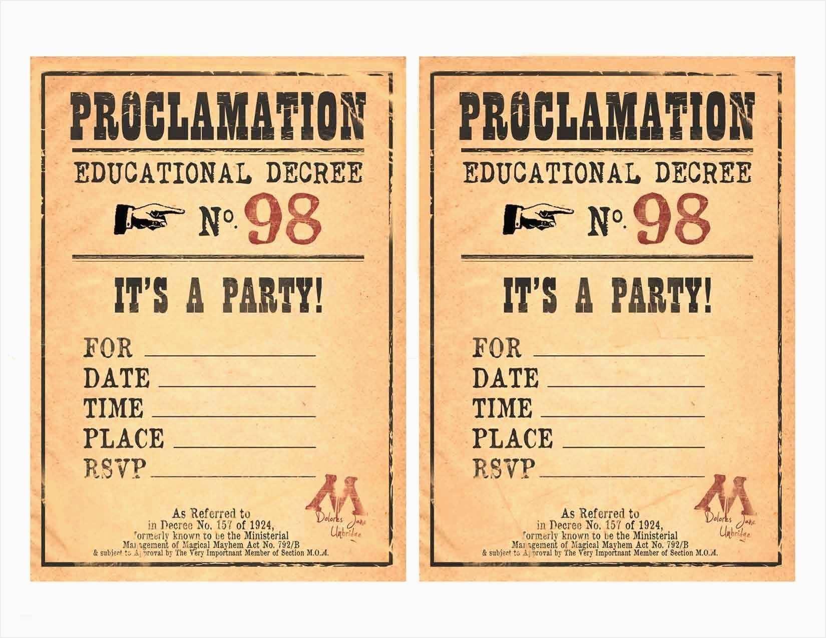 Harry Potter Birthday Cards Elegant Harry Potter Birthday Invitation - Harry Potter Birthday Invitations Free Printable