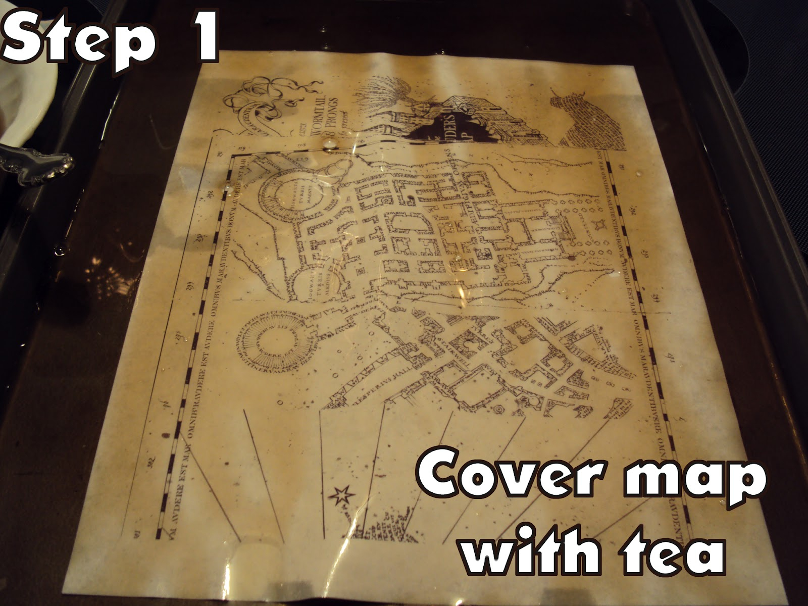 Harry Potter Paraphernalia: Marauder's Map: Inside And Outside - Free Printable Marauders Map