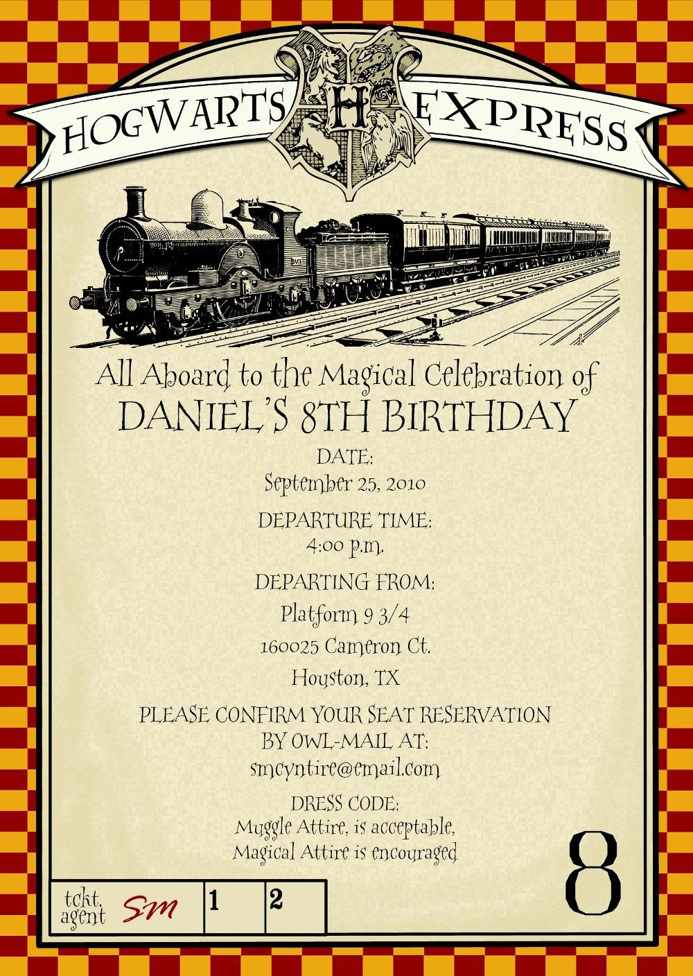 Harry Potter Party Invitations Free Printable | Harry Potter - Harry Potter Birthday Invitations Free Printable