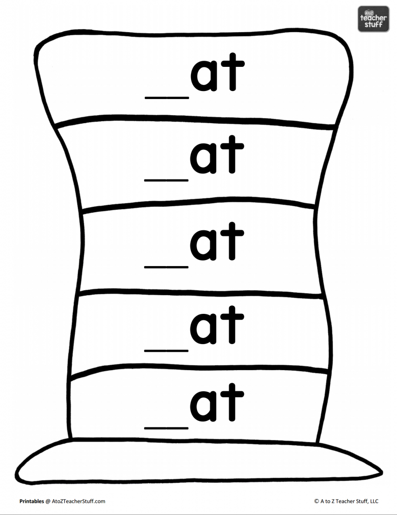 Hat Printables For Dr. Seuss, Cat In The Hat, Or Just Hats!   A To Z - Free Printable Word Family Mini Books