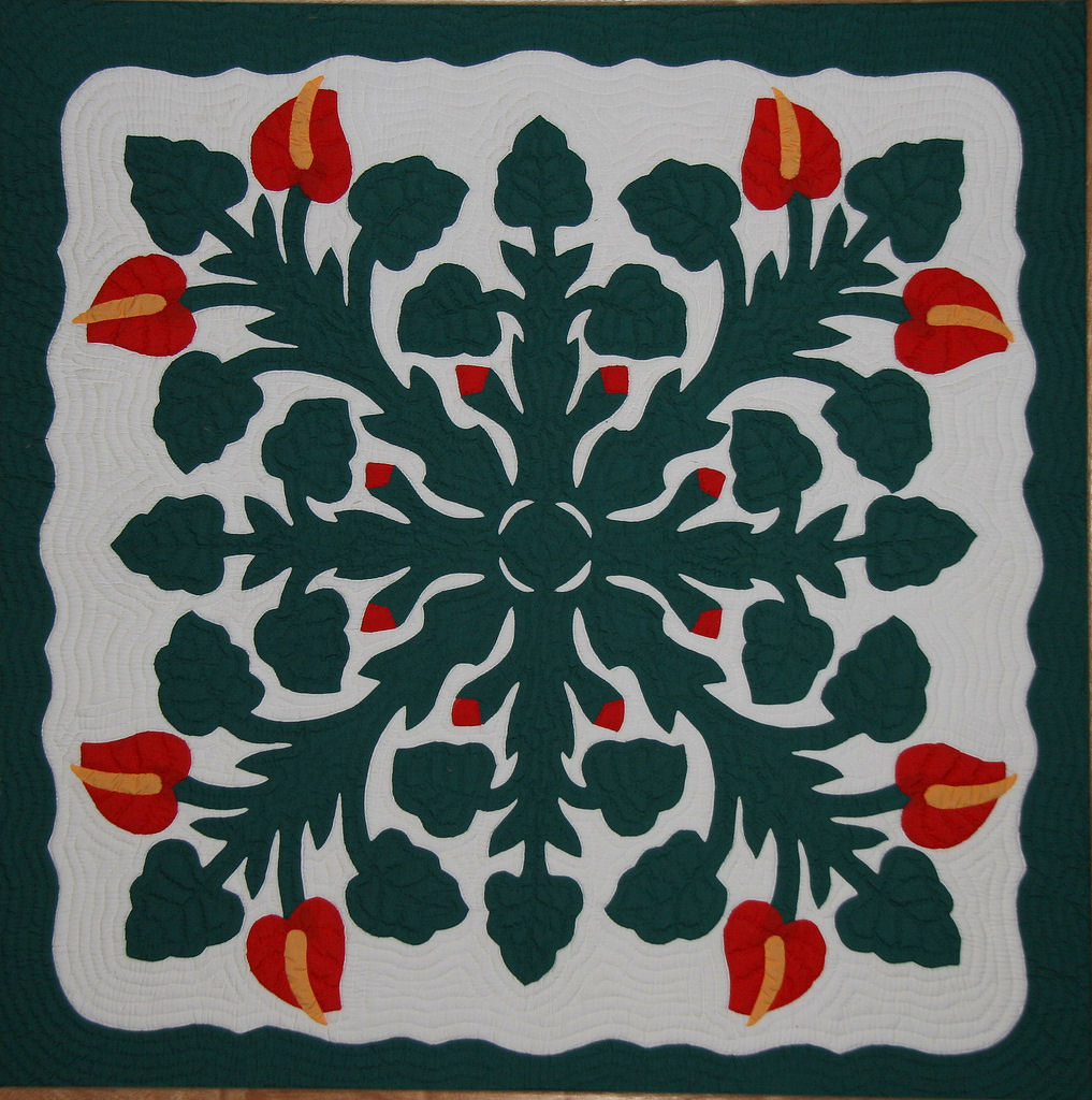 Hawaiian Quilt - Wikipedia - Free Printable Hawaiian Quilt Patterns