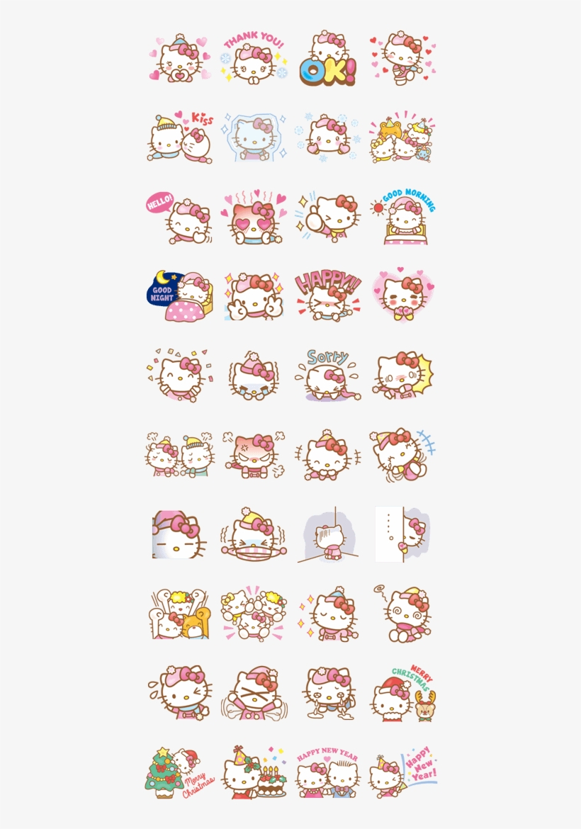 Hello Kitty Animated Stickers - Hello Kitty - Free Transparent Png - Hello Kitty Labels Printable Free