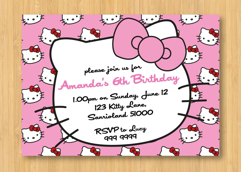 Hello Kitty Birthday Invitations Printable Free – Invitation - Free Printable Hello Kitty Baby Shower Invitations