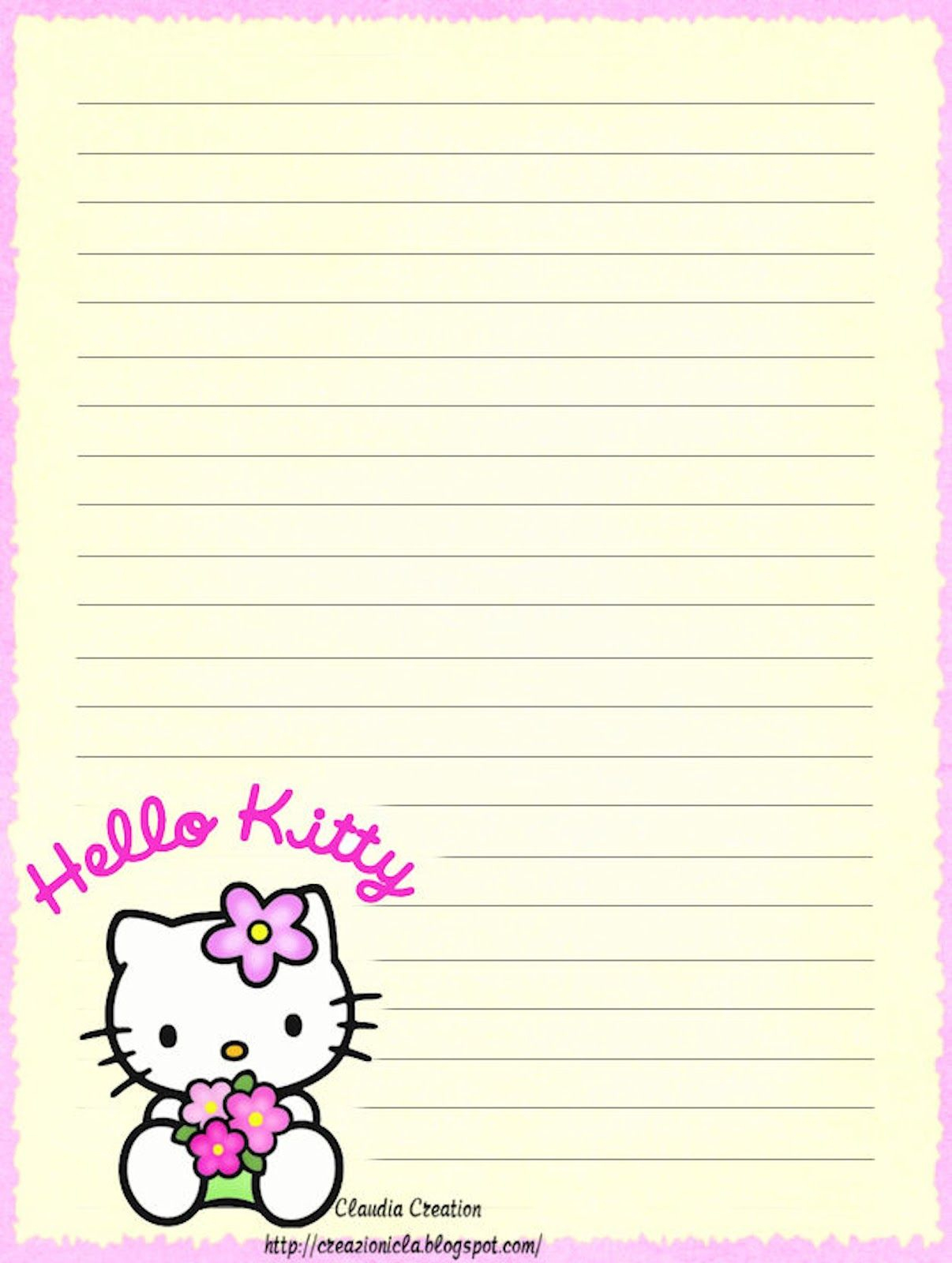 Hello Kitty | Borders,stationary,backgrounds | Pinterest | Hello - Free Printable Hello Kitty Stationery