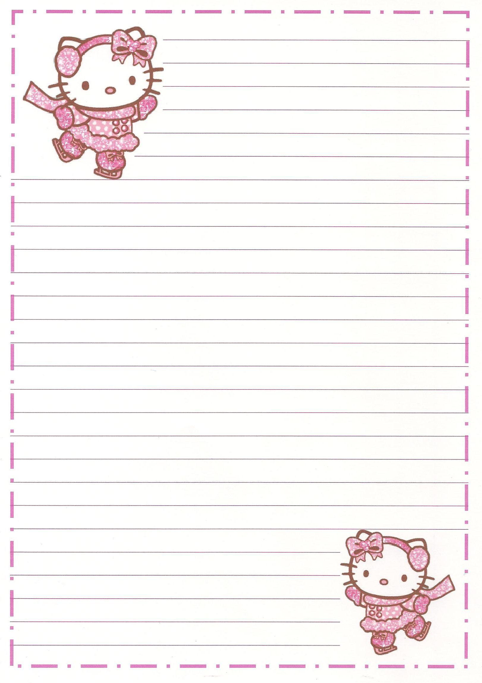Hello Kitty | Borders,stationary,backgrounds | Pinterest | Sobres De - Free Printable Hello Kitty Stationery