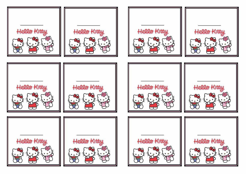 Hello Kitty Name Tags | Birthday Printable - Hello Kitty Name Tags Printable Free