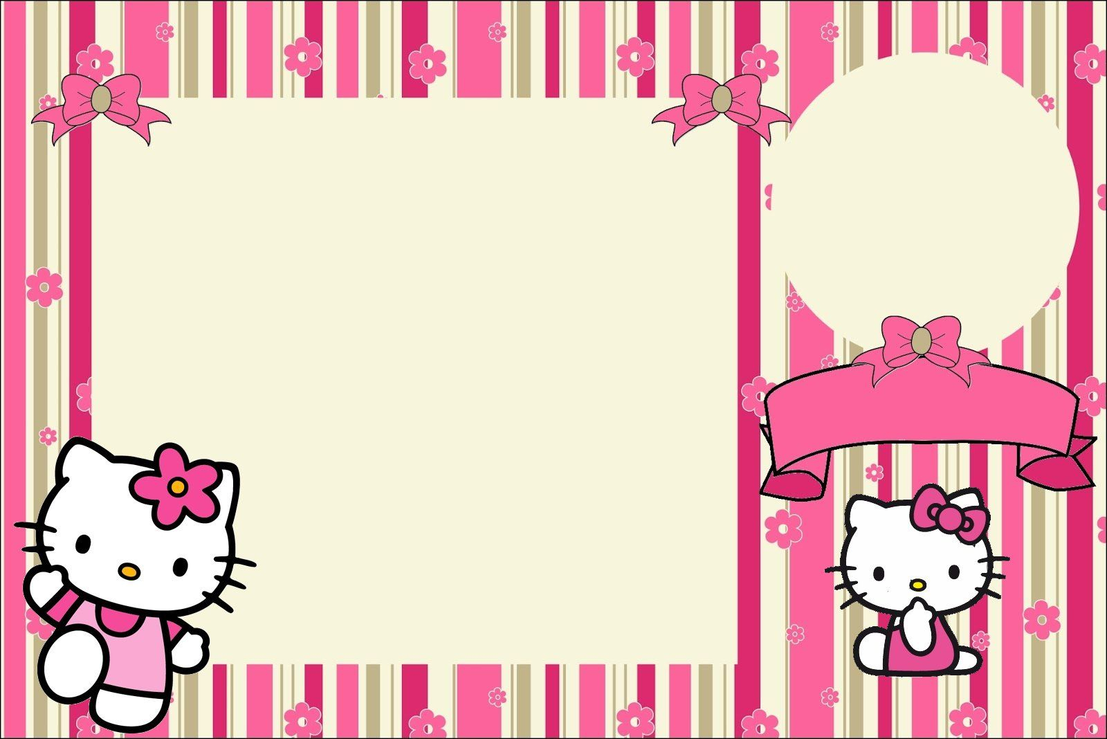 Hello Kitty With Flowers: Free Printable Invitations. | Hello Kitty - Hello Kitty Birthday Card Printable Free