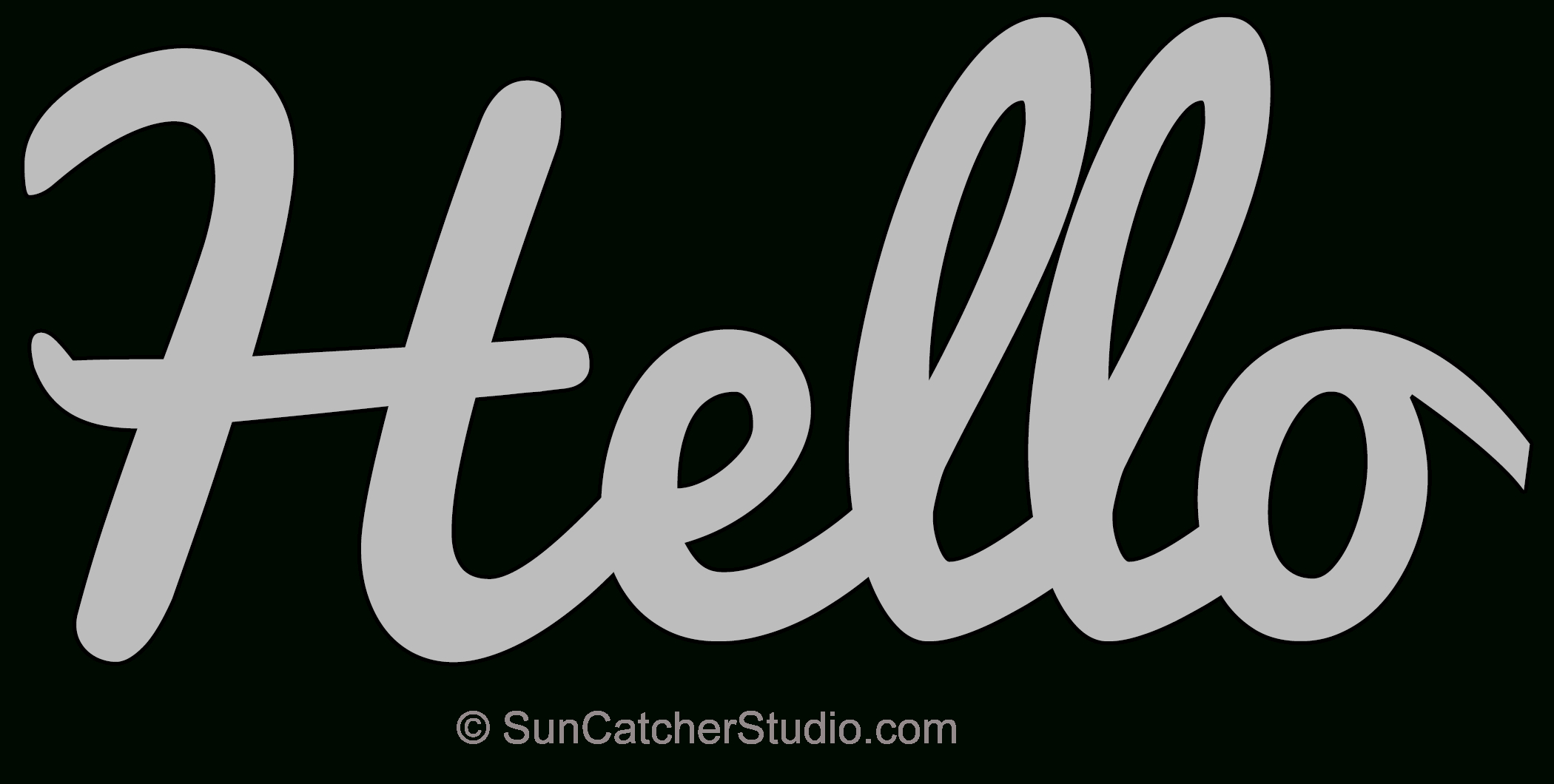 Hello – Pattern, Template, Stencil, Printable Word Art Design - Free Printable Intarsia Patterns