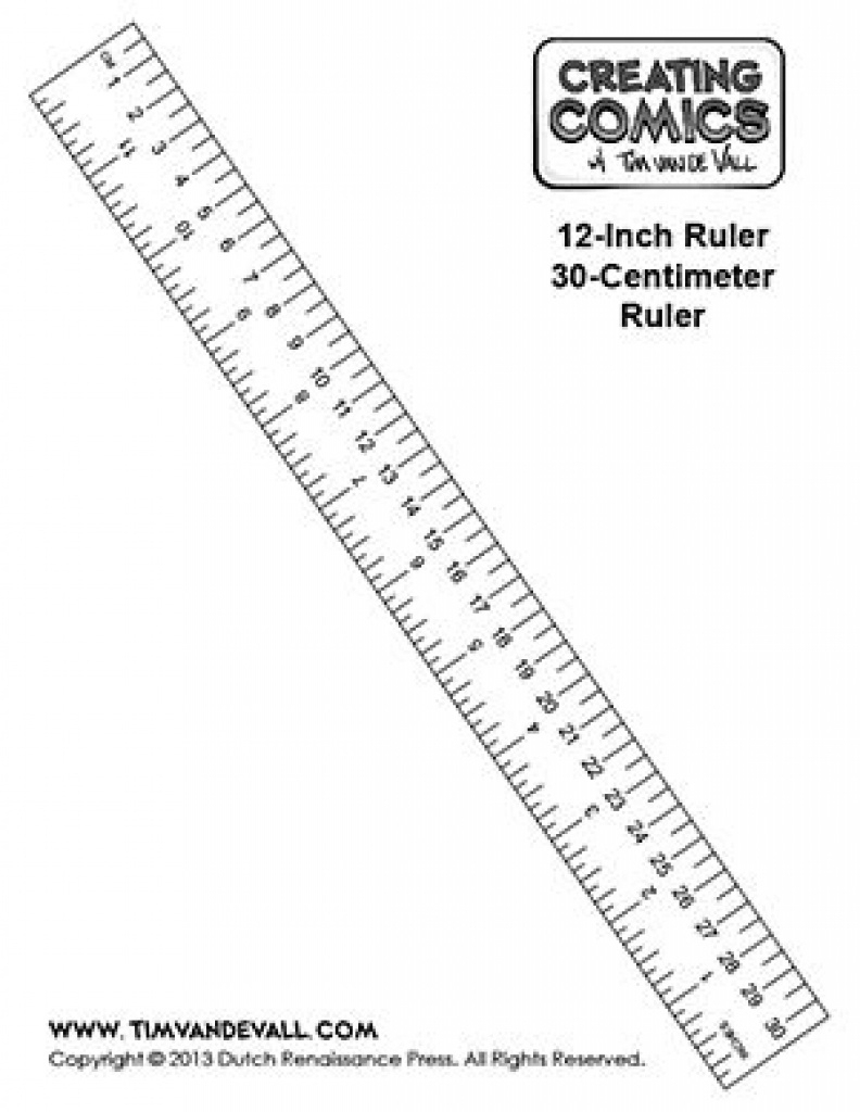 Here's A Free Printable Ruler In Inches And Centimeters That You Can - Free Printable Cm Ruler