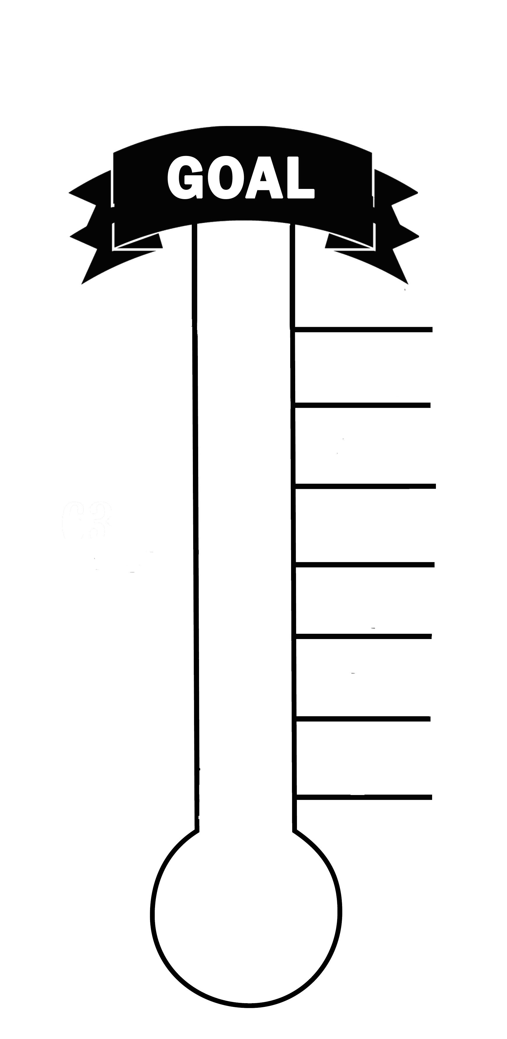 Here's A Great Way To Encourage Your Church Or Small Group! Print - Free Printable Goal Thermometer Template
