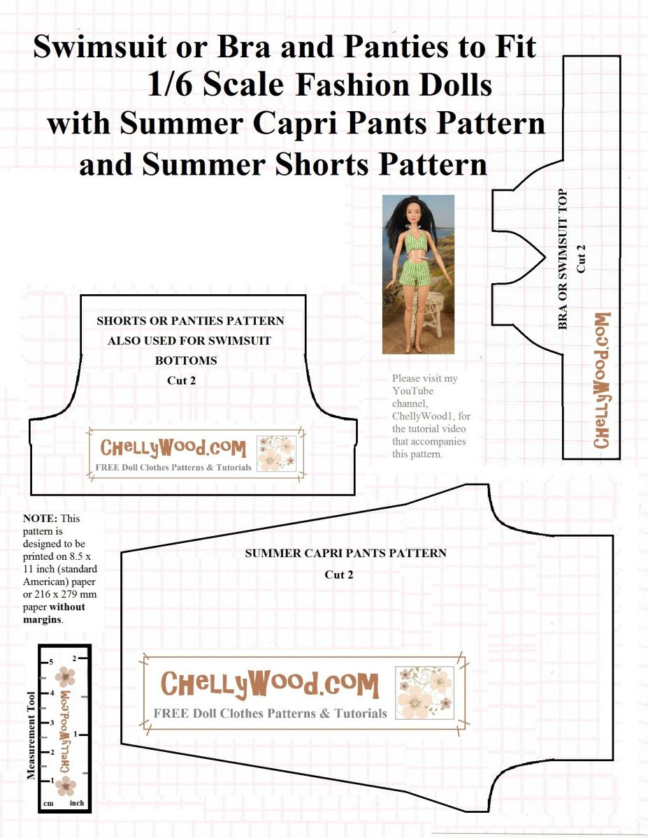 Here's My Free, Printable Sewing Pattern For A Retro Swimsuit. As - Free Printable Sewing Patterns