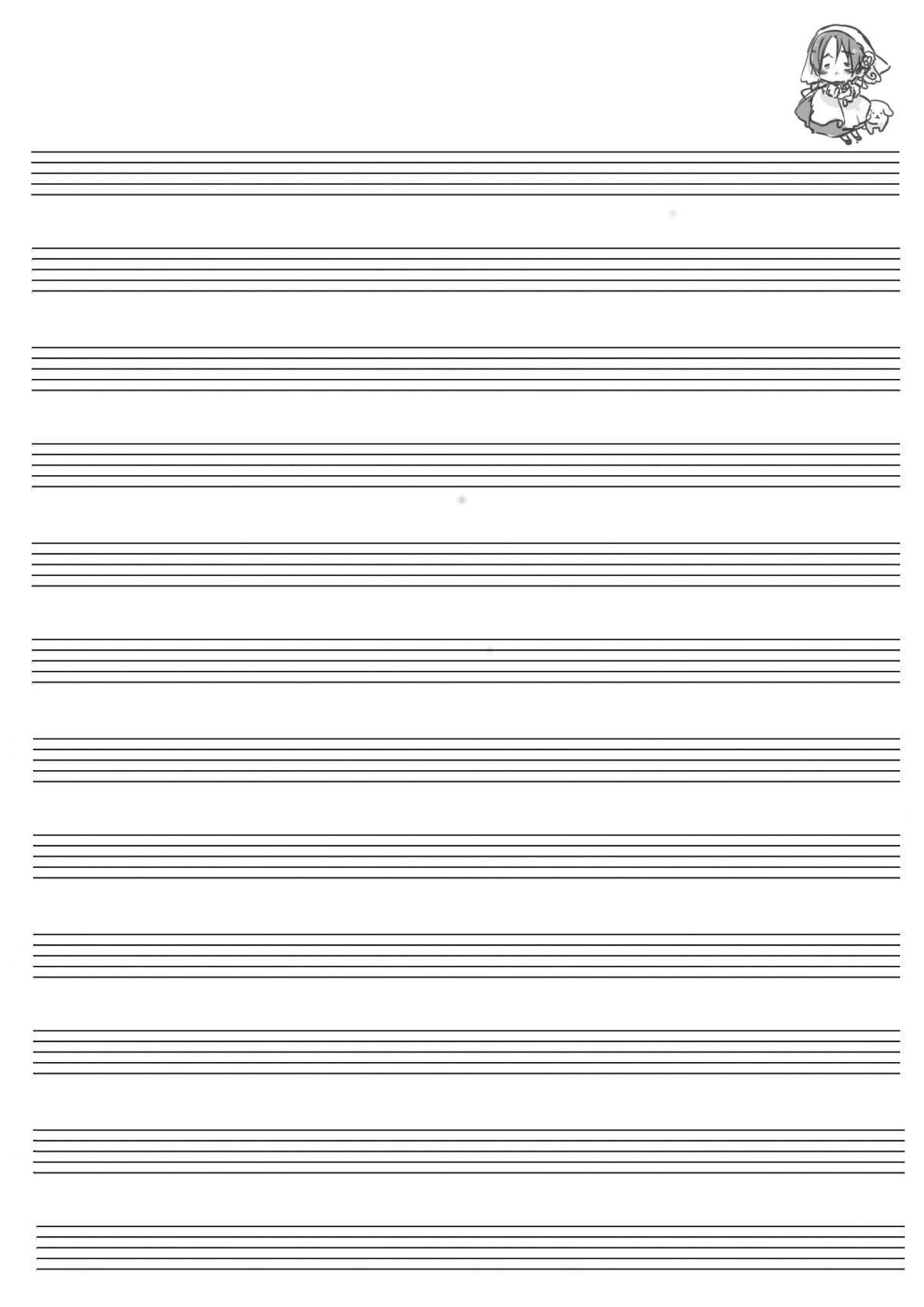 Hetalia Printable Manuscript Paper - Set 3! …even More. Well, I - Free Printable Staff Paper Blank Sheet Music Net