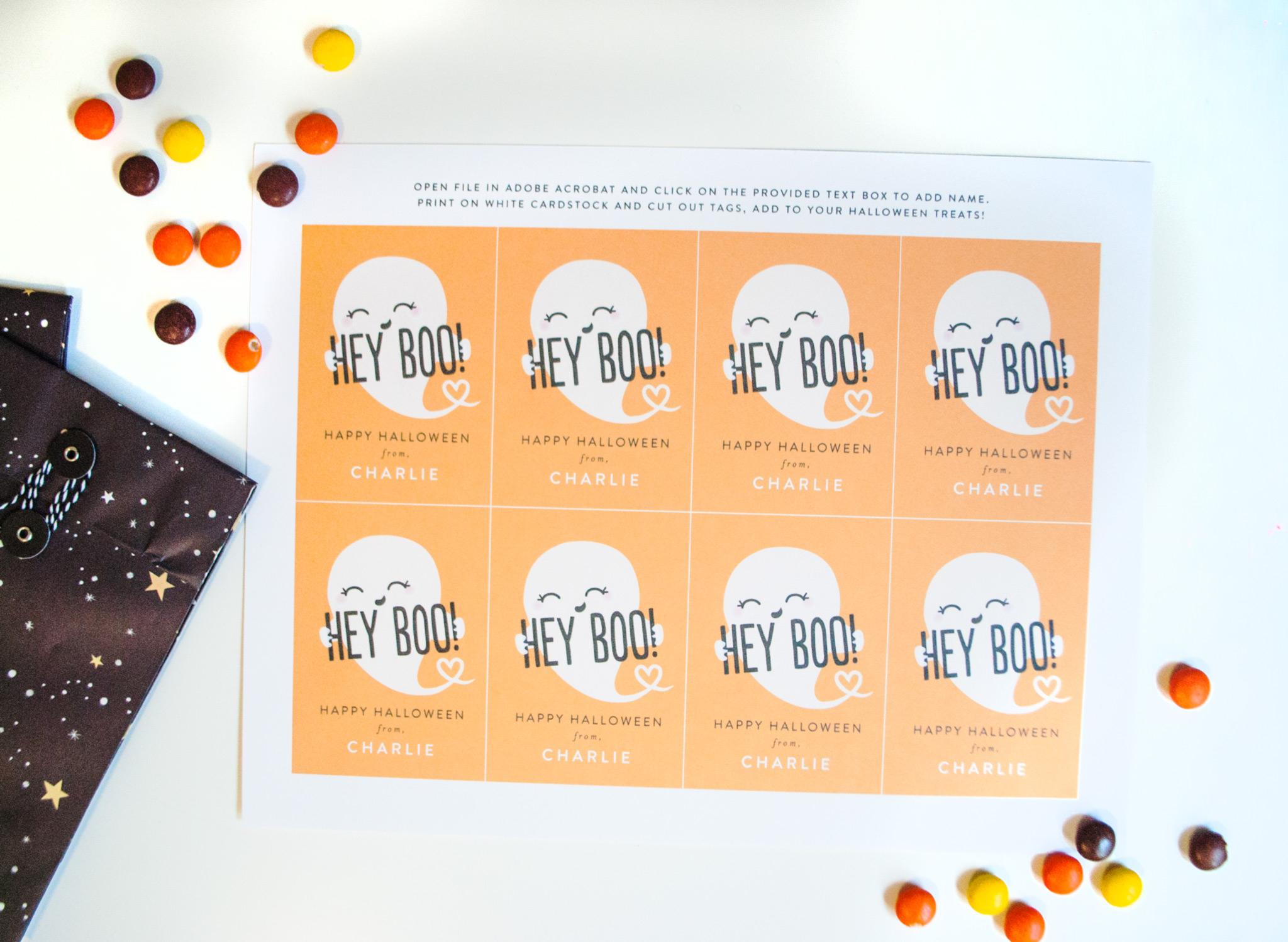 Hey, Boo! Get Your Free Printable Halloween Treat Tags Here - Free Printable Halloween Tags