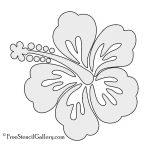 Hibiscus Flower Stencil | Free Stencil Gallery | Stencils   Free Printable Flower Stencils