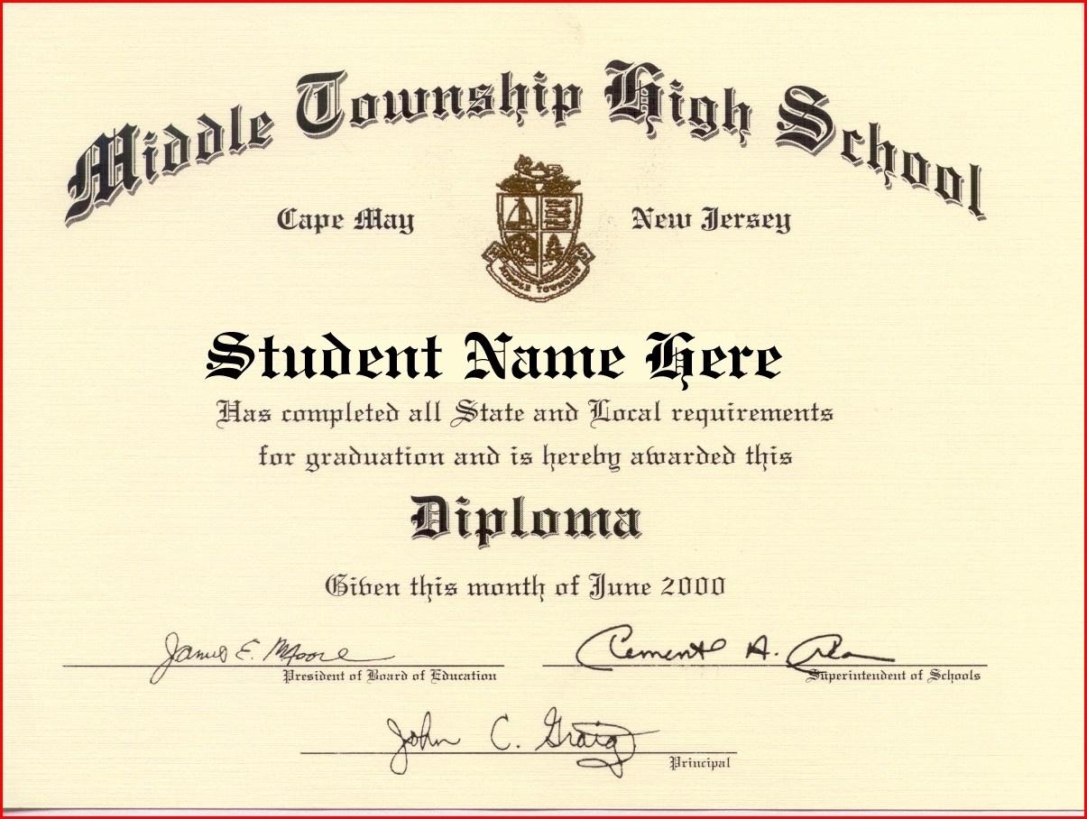 High School Diploma Maker - Rehau.hauteboxx.co - Free Printable High School Diploma Templates
