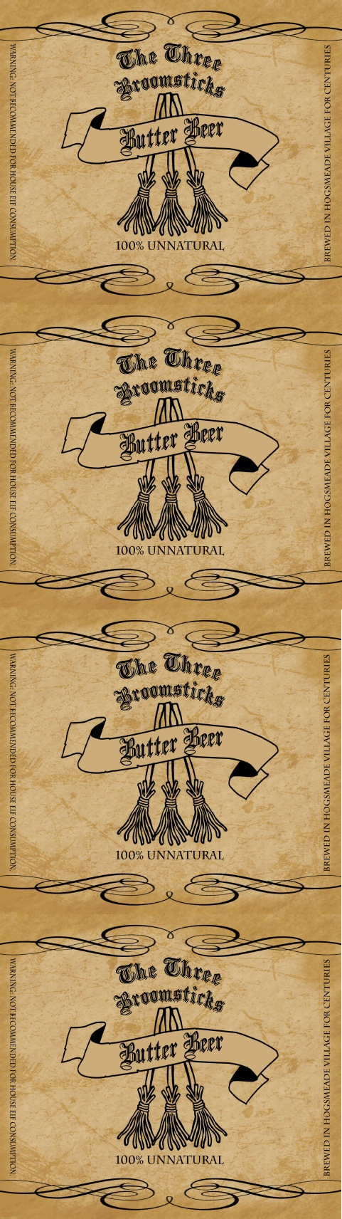 Hog Warts Express Butter Beer Label   Harry Potter - Free Printable Butterbeer Labels
