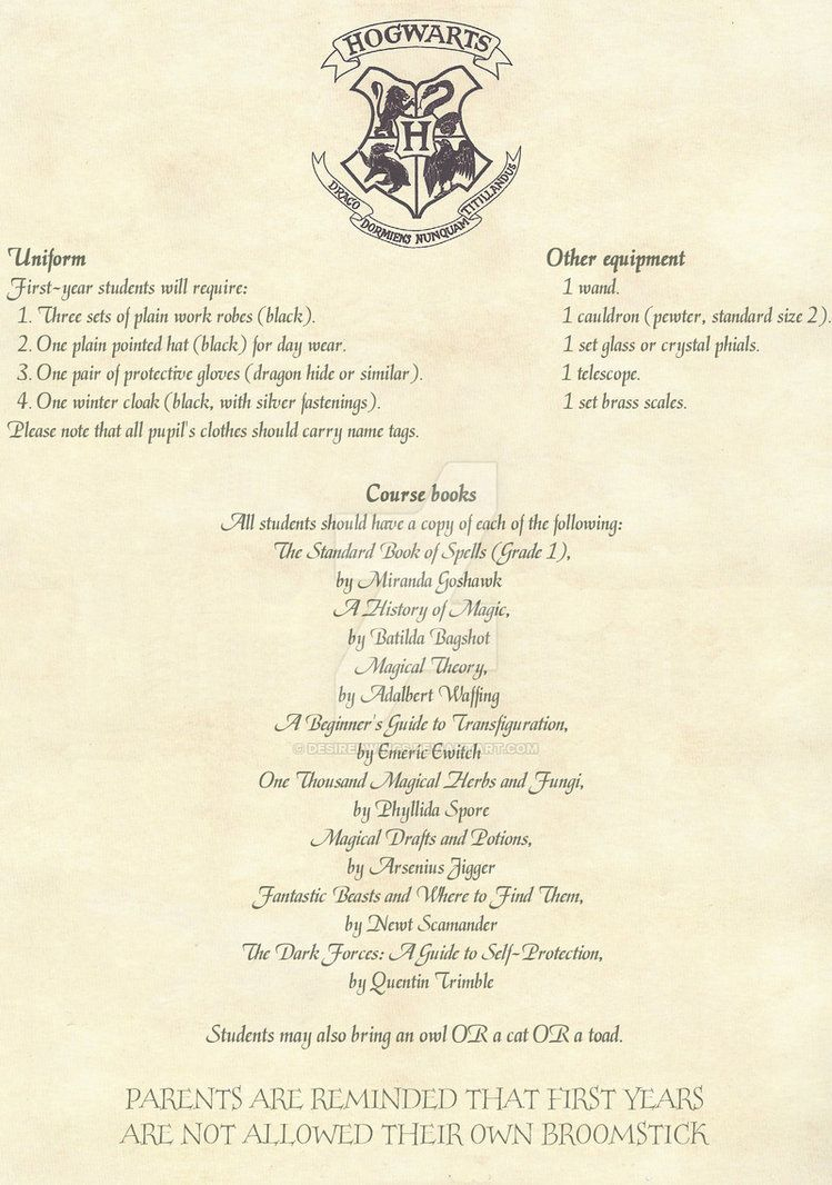 Hogwarts Acceptance Letter -English- 2/2Desiredwings | Harry - Hogwarts Acceptance Letter Template Free Printable