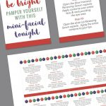 Holiday Mini Facial Card   Instant Download | Printables | Pinterest   Rodan And Fields Mini Facial Instructions Printable Free
