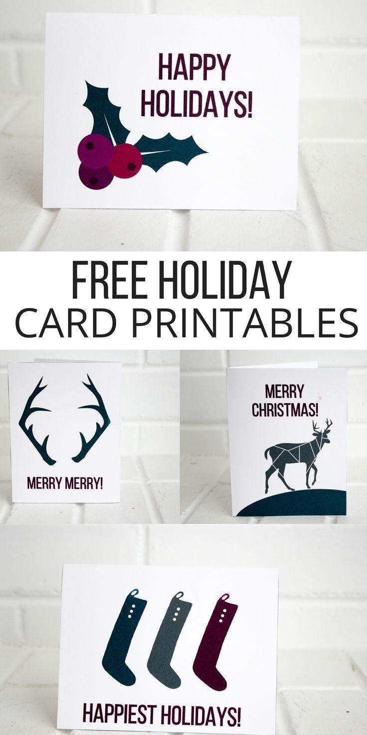 Holiday Printable Cards (Free | Christmas Decor | Christmas, Holiday - Make A Holiday Card For Free Printable
