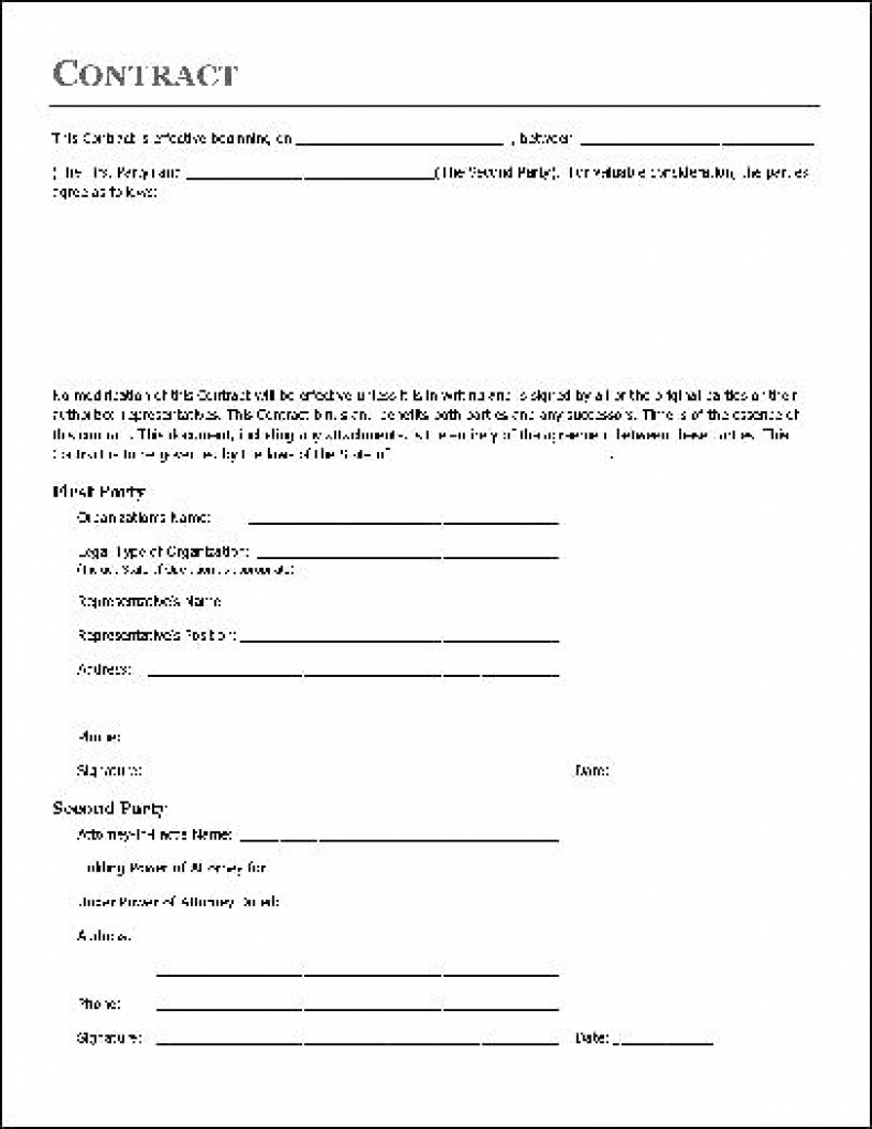 Home Repair Contract Template Home Improvement Contract Free Home - Free Printable Home Improvement Contracts