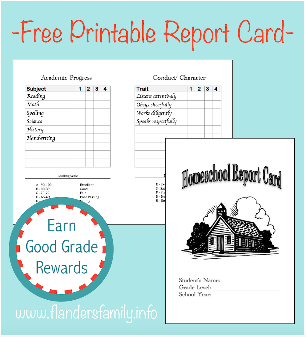 Home School Report Cards - Flanders Family Homelife - Free Printable Grade Cards