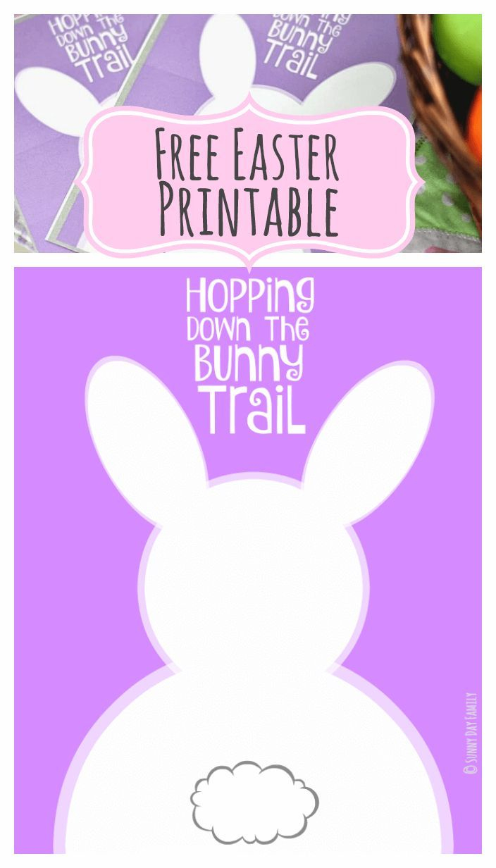 Hopping Down The Bunny Trail: Free Easter Printables In Two Sizes - Free Printable Easter Cards To Print