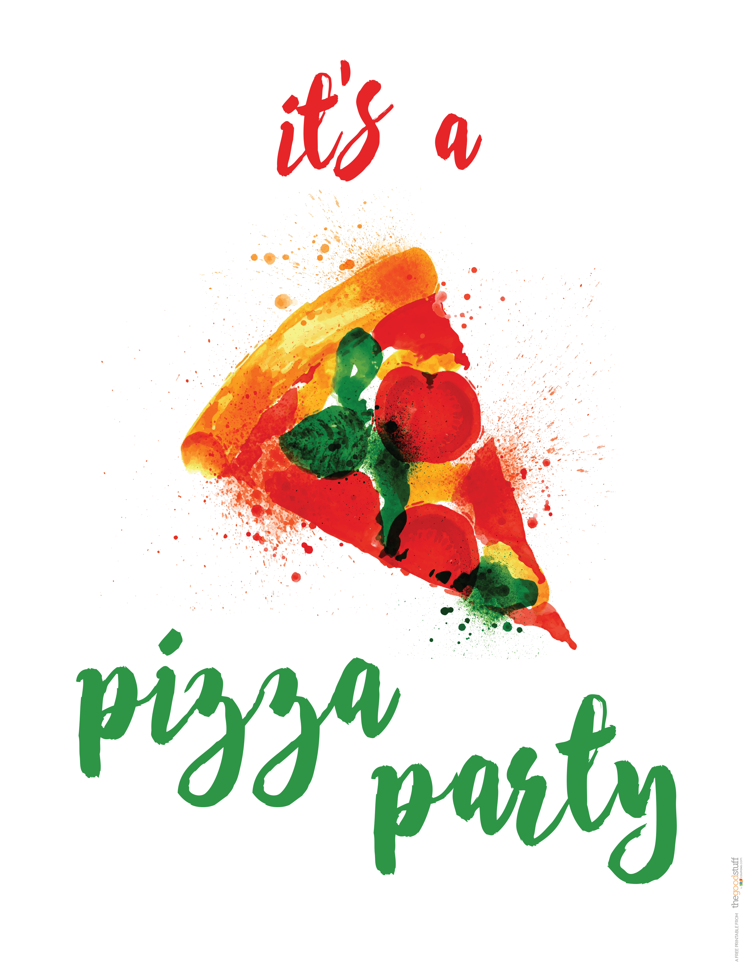 Hostess Helpers: Free Pizza Party Printables | Birthday Parties - Free Printable Italian Dinner Invitations